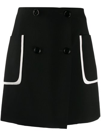 Fendi Contrast Pocket Buttoned Skirt - Farfetch