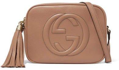 Soho Disco Textured-leather Shoulder Bag - Sand