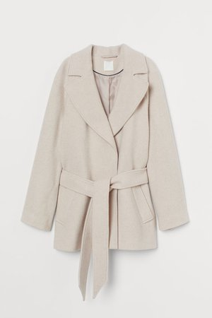 Wool-blend Jacket - Light beige - Ladies | H&M US