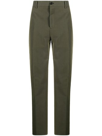 Shop green Acne Studios tailored straight-leg trousers with Express Delivery - Farfetch