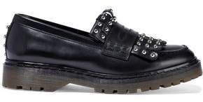 Red(V) Red(v) Fringed Studded Leather Loafers