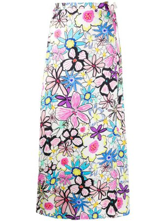 White Mira Mikati Flower Print Skirt For Women | Farfetch.com