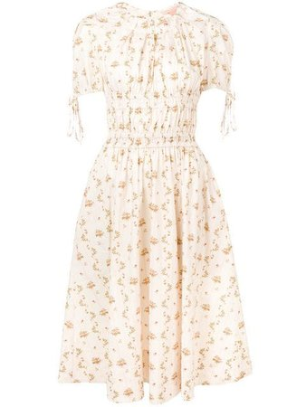 Brock Collection floral print midi dress
