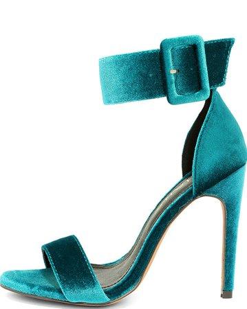 teal believer high heels