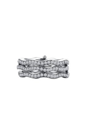 Cintemani 18k White Gold Diamond Ring By Gilan | Moda Operandi