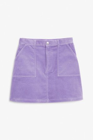 purple jean skirt