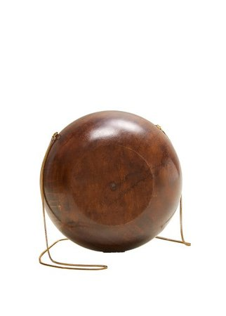 MANGO Wooden round bag