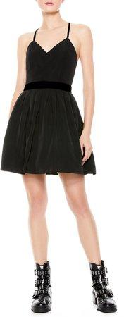 Madison Pleated Fit & Flare Minidress