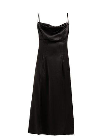 Cowl-neck silk-satin slip dress | Versace | MATCHESFASHION.COM