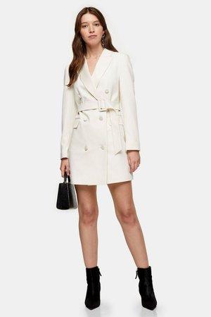 Ivory Tuxedo Blazer Dress | Topshop