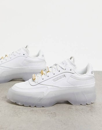 Белые кроссовки Reebok x Cardi B Club Cardi   ASOS