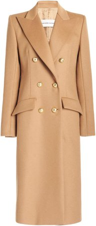 Alexandre Vauthier Double-Breasted Wool-Cashmere Coat