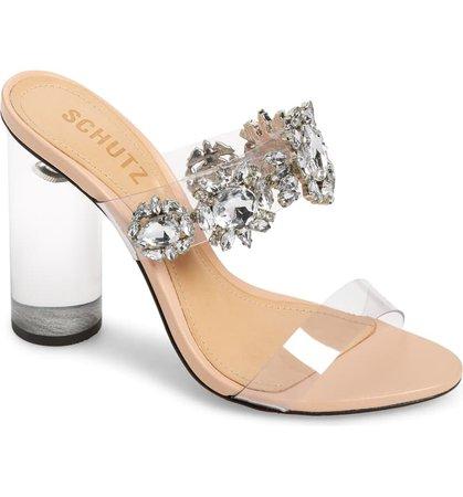 Schutz Blanck Clear Slide Sandal (Women) | Nordstrom