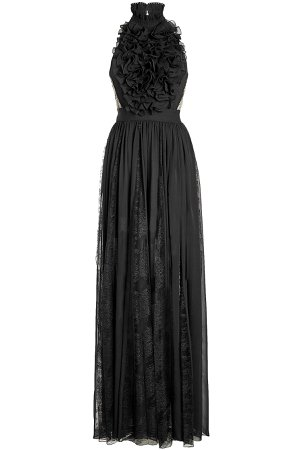 Floor Length Gown with Silk and Lace Gr. FR 38