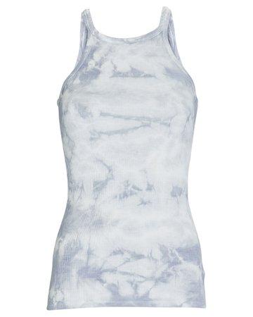 Enza Costa Silk Rib Tie-Dye Tank | INTERMIX®