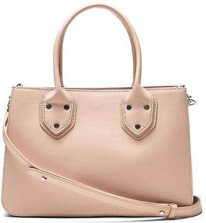 Italian Leather Satchel Tote Bag