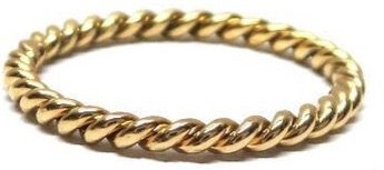 rope gold golden ring twisted