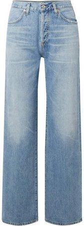 Annina High-rise Wide-leg Jeans - Light denim