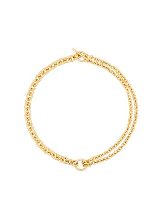 Shop All Blues 18kt gold double mix chain necklace with Express Delivery - FARFETCH
