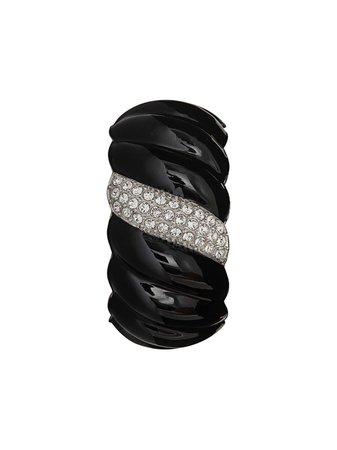 Saint Laurent, Crystal Embellished Twisted Bracelet