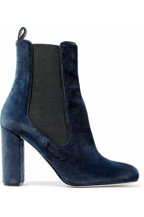 Liz bow-embellished satin and suede ankle boots | ALEXANDRE BIRMAN | Sale up to 70% off | THE OUTNET