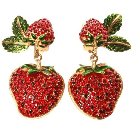 Clip on Femme - Strawberry Clip Earrings