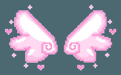 pink wings pixel