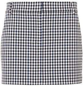 Gingham Twill Mini Skirt