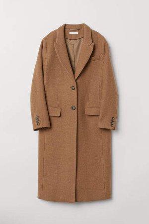Wool-blend Coat - Beige