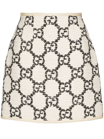 Gucci GG Pattern Tweed Mini Skirt