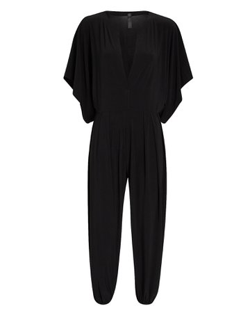 Norma Kamali Rectangle Jog Cropped Jumpsuit | INTERMIX®