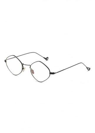 ATTITUDE CLOTHING // Metal Frame Oval Geek Glasses
