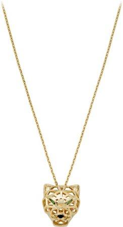 CRN7424210 - Panthère de Cartier necklace - Yellow gold, tsavorite garnets, onyx - Cartier