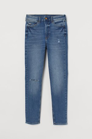 Super Skinny High Ankle Jeans - Blue