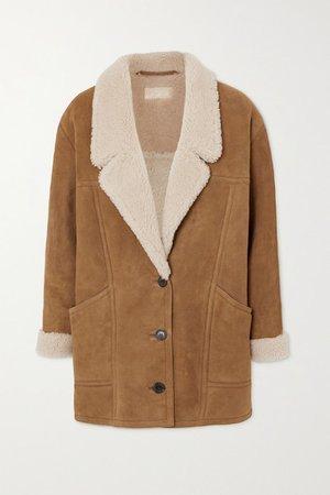 Noelle Shearling Coat - Camel