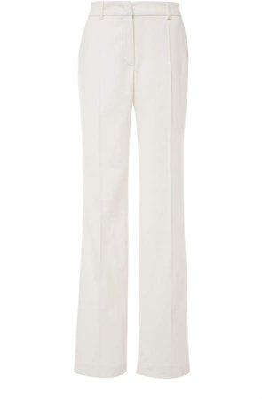 Alberta Ferretti Flannel Straight-Leg Pants