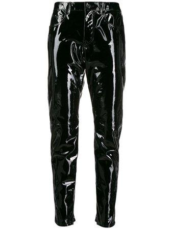 Black Saint Laurent Patent Leather Trousers | Farfetch.com