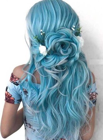 mermaid hair blue