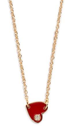 red jennifer zeuner necklace