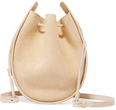 Suede Shoulder Bag - Sand