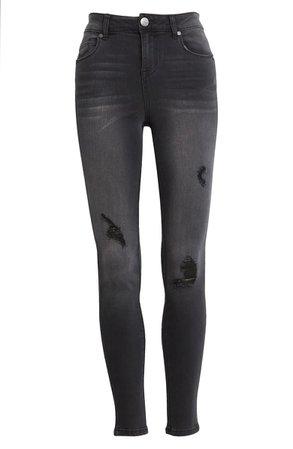 1822 Denim High Waist Destructed Ankle Jeans (Kayley) | Nordstrom