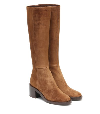 Gianvito Rossi - Suede knee-high boots   Mytheresa