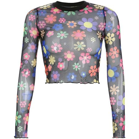 Flower Sheer Mesh Top – Own Saviour