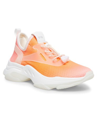 Steve Madden Women's Myles Knit Chunky Sneakers & Reviews - Athletic Shoes & Sneakers - Shoes - Macy's orange