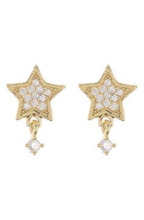 Argento Vivo 14K Gold Vermeil CZ Pave Star Stud Earrings | Nordstromrack