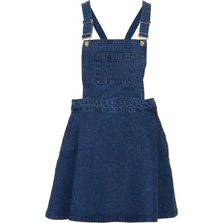 Blue Denim Overall Skirt