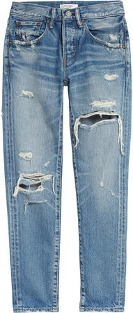 Bowie Ripped Tapered Leg Jeans