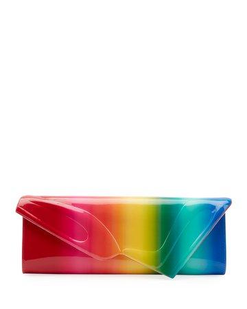 Christian Louboutin So Kate Rainbow Baguette Clutch
