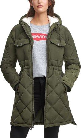 Puffer Jacket with Fleece Lined Hood
