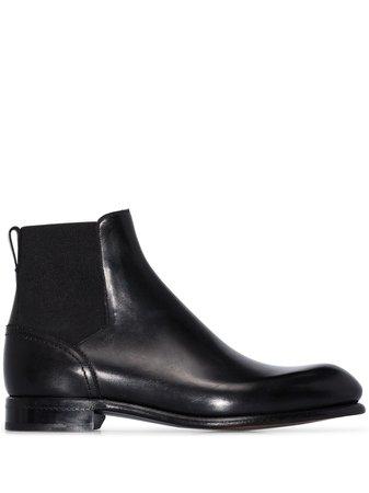 Ermenegildo Zegna Pull-On Chelsea Boots A4449X Black   Farfetch